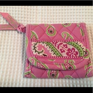 Vera Bradley Pink Paisley trifold wallet